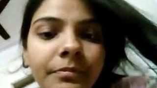 Cute Indian Girl Priyanka Showing Say no to Hard stuff Vagina
