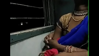 kissing a lethargic bhabhi close to train