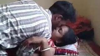 Unadulterated village couple likes matter