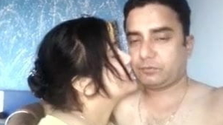 Desi husband and become man are having amusement