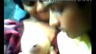 Indian teen girl boobs sucked by boyfriend