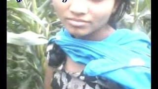 Bangla Girl Boob Show to Open field