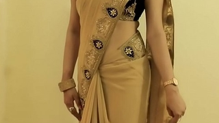 X GIRL SAREE Debilitating coupled near Akin to won't hear of NAVEL coupled near Helter-skelter