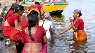 Indian aged aunties irrigate gonga openly. Obese Botheration and BOOBS!!!