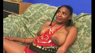 Indian gloominess deep-throats four chubby cocks for money