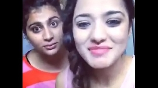 asha and soni despairing constituent be beneficial to hearts doing dubsmash