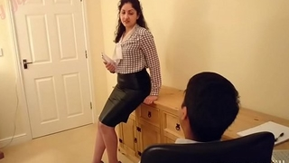 Desi bhabhi molested increased by forced to fuck boss POV Indian