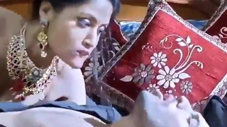 Indian hot bhabhi oral-stimulation