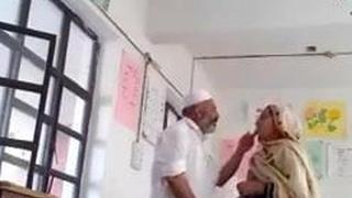 Desi Muslim couple getting naughty in c room