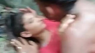 Desi lover fianc' outdoor