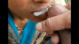 Desi Randi Blowjob coupled with Spunk