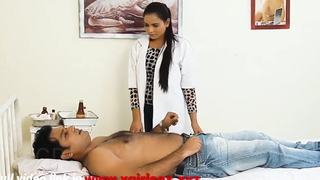 Indian unsatisfied feminine doctor bonking hardcore