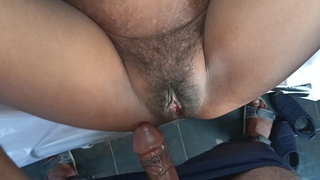 first ever ballpark xxx painful fuck in the brush tight pussy