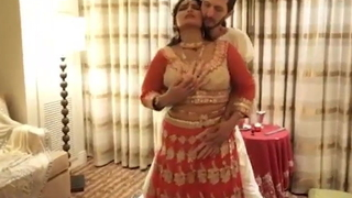 First night hard sex with regard to sexy desi fit together in a room
