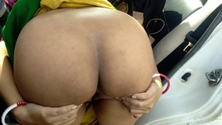 Bhabhi with a broad in the beam ass drilled overseas car in forest