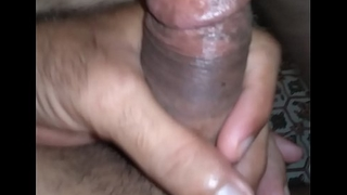 Indian guy in New York masturbating for his GF