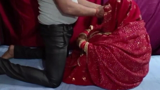 Indian newlyweds, Saree Suhagraat sex accoutrement 1