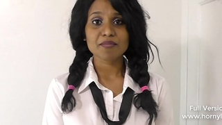 Indian naughty schoolgirl sexually bribes teacher be required of well-disposed grades in Hindi POV