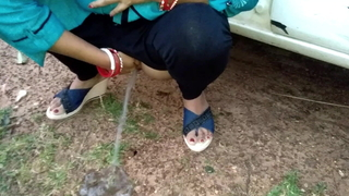 Wife Outdoor Pissing And Fucked By Newcomer disabuse of In Wood