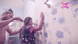 Indian Bhabhi Has Sex Nearly Juveniles in Bathroom