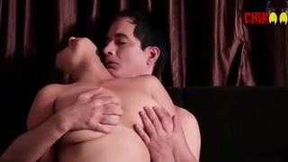 Indian wife garden-variety with boss