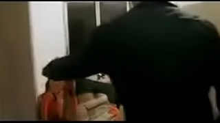 Hot desi bhabhi in black saree passionate sex in kithchen