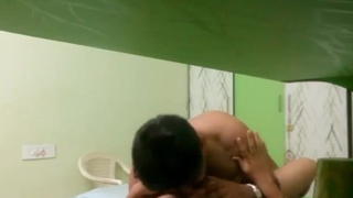 Very sexy seem bhabhi fucked at the end of one's tether the brush hubby's friend.