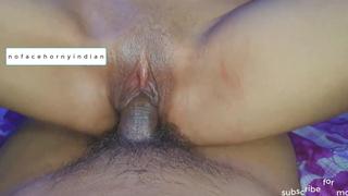 Morose Indian babe loves riding boyfriend's gumshoe