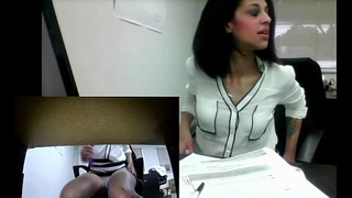 Angel'_s Real Office Masturbation (almost gets caught!)