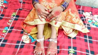 Indian girl Suhag lovemaking video, Hindi clear audio
