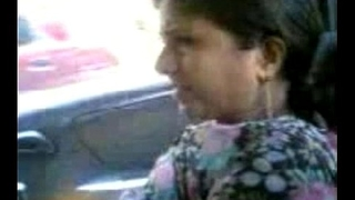 Mallu Aunty Shoing boobs in car-with Audio