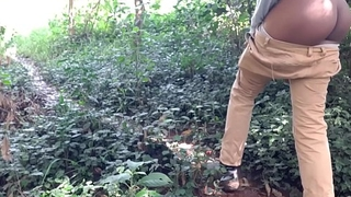 Indian Stepsister In Forest Caught Me Unfold Outdoors