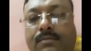 Indian old doctor showing his dick