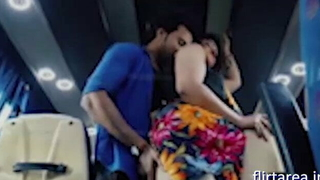 Indian Sexy Aunty Shafting Ass involving Stranger Far Bus
