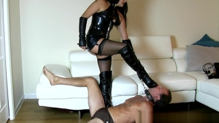 Michelle Lacy lie low boot worship