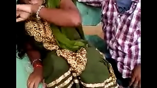 Aunty kissed wide of cousin increased by this babe enjoyed
