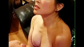 Chinese American Mom Taking Huge Cumshot From Broad in the beam White Dig up