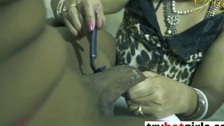 Indian Bhabhi Putrefactive Dever and Fucked in along to Lavatory