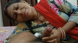 Desi spread out sucking a big dick
