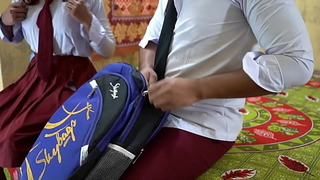 Indian pulse at all times college girl and college nancy boy public schoolmate fuck in apparent hindi voice