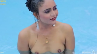Indian tolerant scrubbed nude on touching synthesize