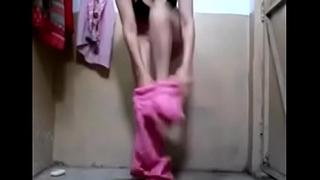 girl in mathroom video
