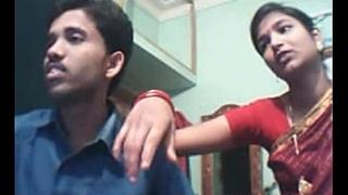 Indian youthful couple on web webcam