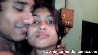 Bangla indian chick in bra kissing bigtits in nature's garb