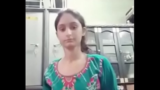 Indian cute girls self video