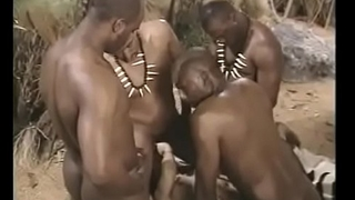 British babe team-fucked by indian males