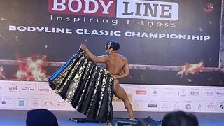 Indian cissified bodybuilder strip dance Europa Bhowmik