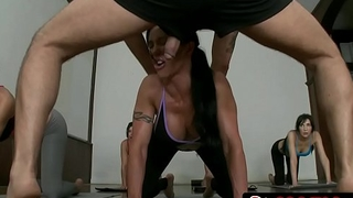 Cfnm yoga fuckfest - jewels jade, franceska jaimes, diana prince, india summer