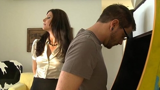 Stockinged mommy india summer receives screwed increased by facialized