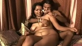 Indian low-spirited bhabhi feeding their way husband adorable milk